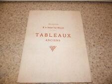 1910.catalogue vente collection Paul Muller.Tableaux Rembrandt Cranach.
