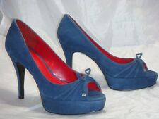 New Authentic  Guess Pumps By Marciano Jules Blue Suede Size 10M