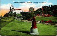 Vintage 1930's Junipero Serra Museum, Old Town San Diego California CA Postcard