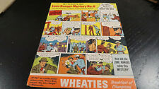 Wheaties Lone Ranger Mystery No 8 Cardboard Panel