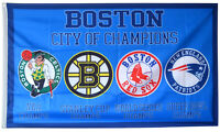 New England Patriots Boston Celtics Red Sox Bruins FLAG 3x5 ft Banner