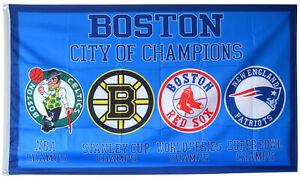New England Patriots Boston Celtics Red Sox Bruins FLAG 3x5 ft Banner