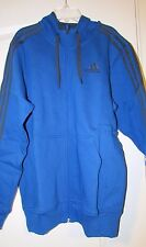 Adidas NWT Hoodie Blue M Men Medium Performance Essential Heavyweight Full-Zip
