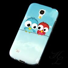 Samsung Galaxy S4 mini i9195 Silikon Case Schutz Hülle Cover Zwei Eule Bumper