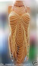 Da NeeNa T008A Burlesque Vegas Christina Aguilera Costume Pearl Leotard  XS-XL