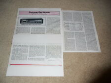 Nakamichi 582 Cassette Review, 3 pg, 1978, Full Test, Specs, Info