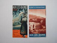 AIX-LES-BAINS  - 2 Dépliants Touristiques