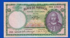1) portugal-billets 20 escudos 25-05-1954 Luiz de Menezes km#153