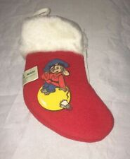 An American Tail 1986 Sears & McDonalds Mini Christmas Stocking Fieval 7""