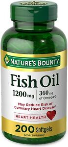 FIsh Oil by Nature's Bounty, Dietary Supplement, Omega 3. Supports Heart...