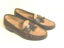 Stafford Two Tones Brown/Tan Slip On Moccasins Tassel  Men's Shoes Size 8 M
