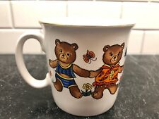 Vintage Enesco Mug Cup Bears With Flowers