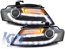Headlights Audi A4 B8 8K 08-11 LED DRL Headlamps Facelift Light Bar Xenon Design