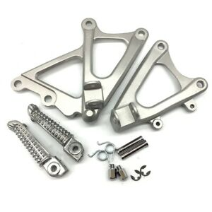 Fit For 2009-2014 Yamaha YZF-R1 Motorcycle Front Foot Pegs Bracket Silver
