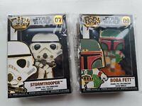 Funko Pop Loungefly Enamel Pin Star Wars Boba Fett 09 & Stormtrooper 07 New