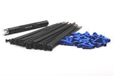 VPOWER BLACK SPOKE & BLUE NIPPLE KITS 19x2.15 REAR YAMAHA WRF/YZ/YZF