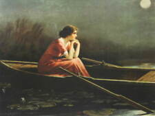 Lady in Boat Moon Light by Zula Kenyon