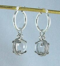 Viking Rock Crystal Earrings, Sterling - Museum Store Collection