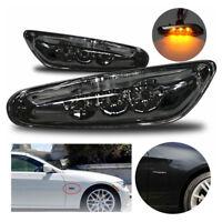 Für E46 E60 E81 E87 E90 E91 Schwarz Rauchglas LED Seitenblinker M Blinker