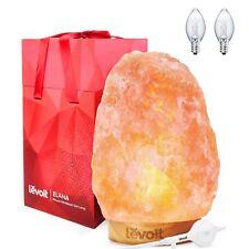 Levoit Elana Himalayan Salt Lamp, Natural Himilian Hymalain Pink Salt Rock La...