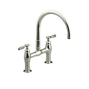 Kohler K-6130-4-CP Parq Deck-Mount Kitchen Sink Faucet - Polished Chrome