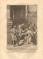1770  ANTIQUE PRINT -BIBLE- ESTHER THE QUEEN BEING GLORIOUSLY ADORNED