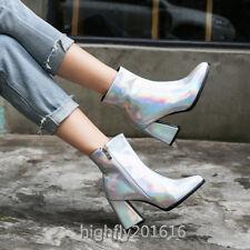 Modisch Damenschuhe Modern Stiefel Stiefeletten Schick Schuhe Lackleder 2019 Neu