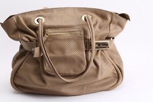 Maria Pino Beige Leather Slouchy Tote Bag