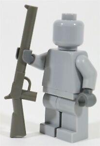 NEW LEGO DARK STONE GREY MINIFIGURE RIFLE PART X1 - 30141 COWBOY WEAPON GUN