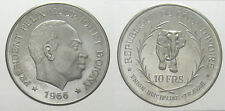 *TRIU* COSTA D'AVORIO 10 FRANCHI 1966 in argento PROOF RARA
