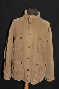 Barbour Rare Item Mens Morse Jacket Over sized Oiled Jacket Brown Size XXL T392
