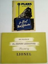 ORIGINAL 1950 LIONEL Art Prints + 1945 plans blueprints book Excellent Condition