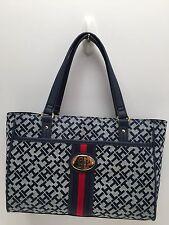 Tommy Hilfiger Handbag Navy Blue Multi Shopper Shoulder Bag Tote $89 New
