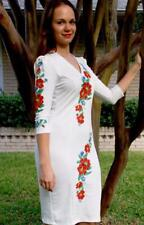 """Ukrainian Women's embroidered dress """"Romance"""", Soft and stretchy material"""