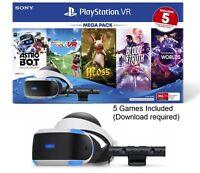 Sony Playstation VR Mega Bundle With 5 Virtual Reality Games PSVR Headset Camera