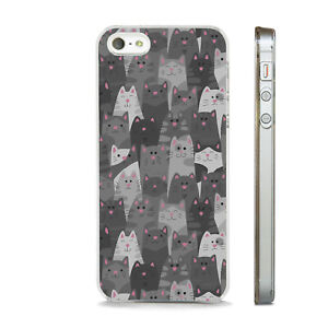 HAPPY CAT CROWD KITTEN FELINE NEW PHONE CASE COVER FITS All APPLE IPHONE MODELS
