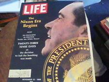Life Nov 15, 1968 the Nixon Era Begins, Bomb Halt North Vietnam