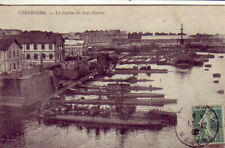CPA 50 Normandie CHERBOURG Marine Station des Sous-Marins U-Boot Sub-marine 1900