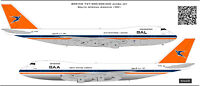 Boeing 747 South African Airways decal 1100