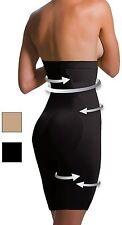 "NUOVA Scala nero vita alta Anti-Cellulite Slimming Shapewear Panty BIO ABETE M 42"""