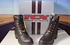 TCX Smoke Ladies Waterproof Nero 41 Motorcycle Boots With Heal Black Size 9 HB