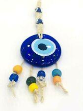 Nazar Boncuk Wandbehänge 21cm Glas Anhänger Deko Evil Eye Blau Augen NZ25