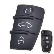 3 Button Rubber Key Pad For Audi A1 S1 A3 A4 A5 A6 A8 Q3 Remote Flip Shell FOB