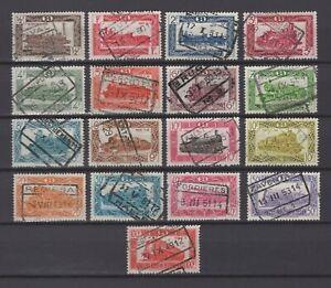 BELGIUM 1949 steam trains railway stamps set fine used TR 304/320