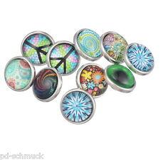 50 Mix Mini Mehrfarbig Glas Klicks Druckknopf Druckknöpfe Clicks Buttons