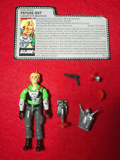 1987 VINTAGE GI JOE ARAH PSYCHE-OUT 100% COMPLETE WITH FILE CARD
