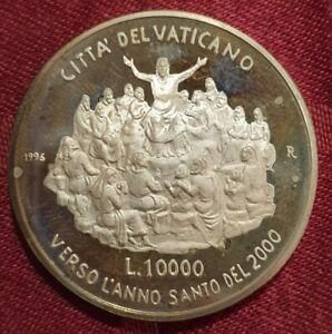 Vatikan 10.000 Lire 1996 Heiliges Jahr 2000 KM # 271 offene PP Silber