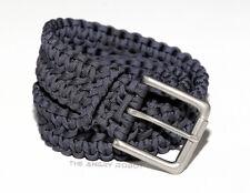 Paracord Belt - Slate Blue with Matte Nickle Buckle - S M L XL