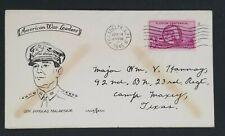 1945 Philadelphia PA To Camp Maxey TX War Leader Gen MacArthur Patriotic Cover