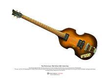 Paul McCartney's 1963 Hofner 500/1 Beatle Bass ART POSTER A3 size